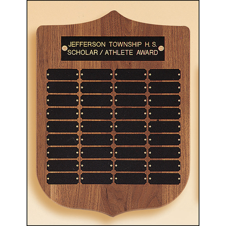 Perpetual plaque with 2 plate combinations.