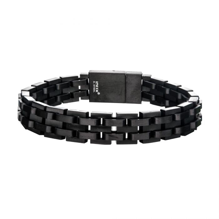 BLACK LINK Men's Stainless Steel Links Bracelet