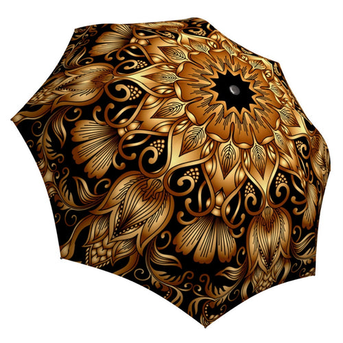 GOLD FLORAL ORNAMENT Umbrella