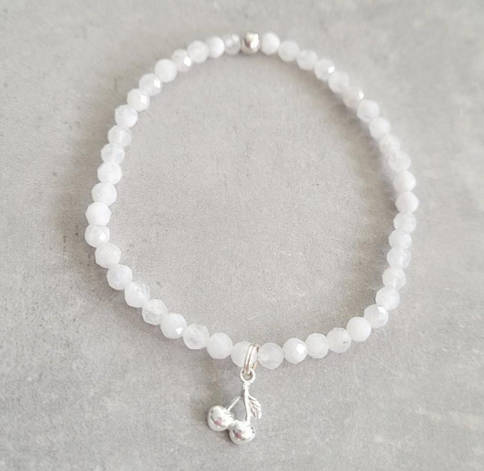 CHERRY ON TOP Moonstone Gemstone Bracelet