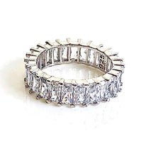 BAGUETTE Crystal Sterling Silver Rings