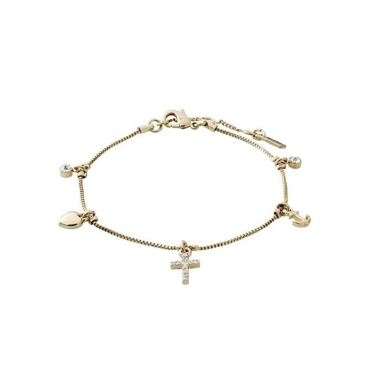 ANET Charm Chain Bracelet in Gold or Silver