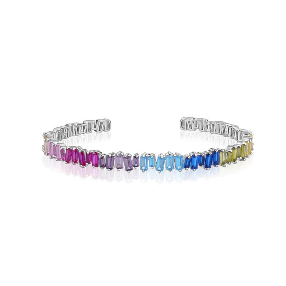 RAINBOW Cubic Zirconia Crystal Bangle