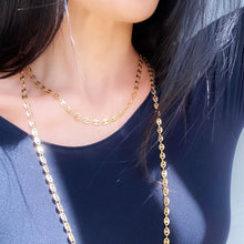BEAN LINK Gold Long Chain Necklace