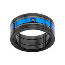 BLUE Men's Stainless Steel Ring