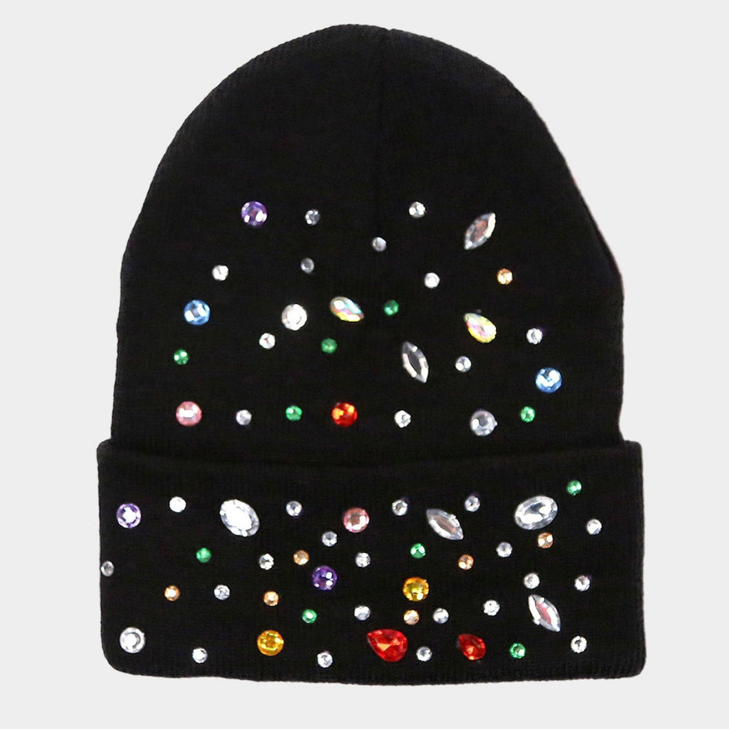BEJEWELED Foldover Beanie Toque