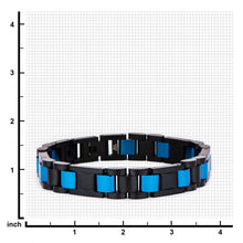 KYLE Men's Blue Stainless Steel Links Bracelet