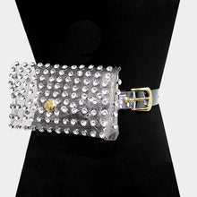 CLARITY Clear Crystal Studded Fanny Pack