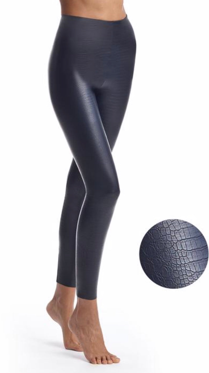 Faux Leather Croco Leggings