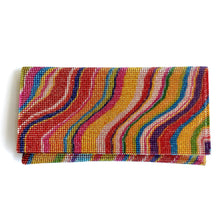 PARADISE Multi-Colour Patterned Crystal Clutch Bag