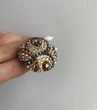 CHER Gold Tones Swarovski Statement Ring