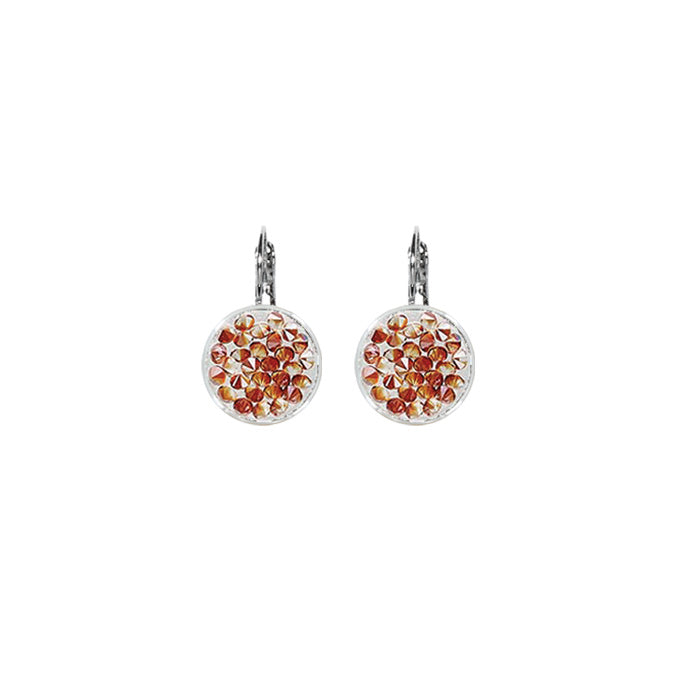 RED MAGMA Crystal Rock Swarovski Earring