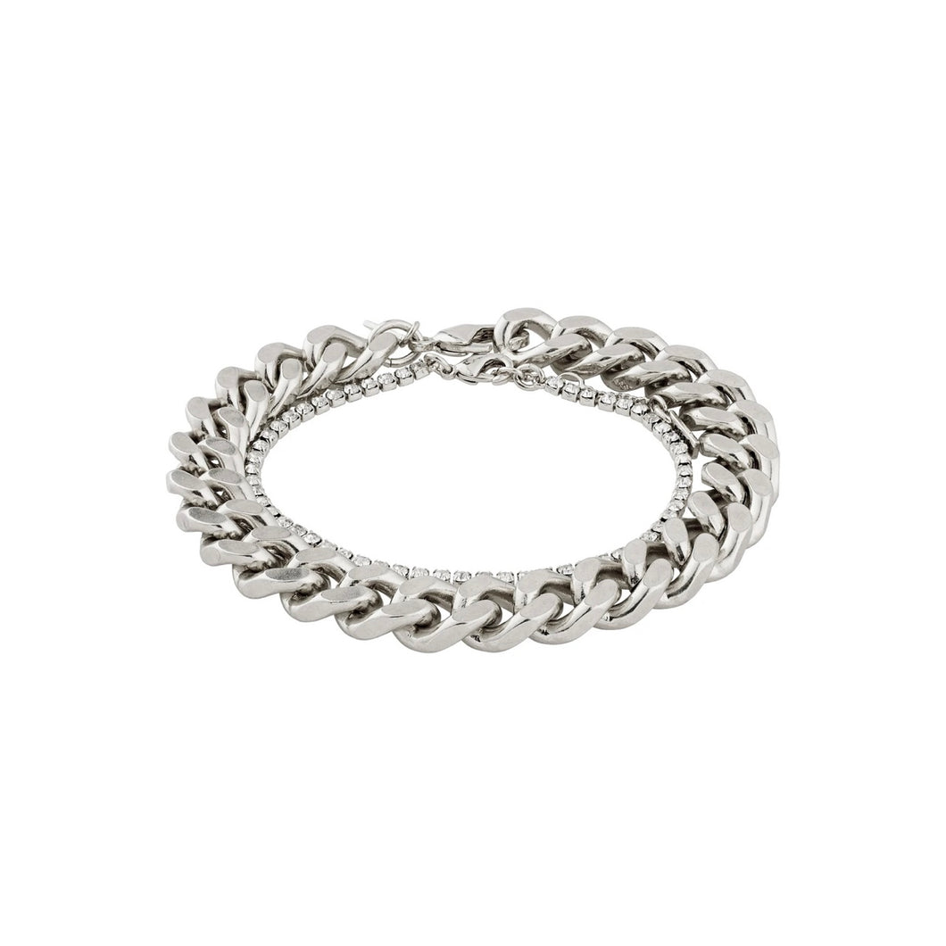 RADIANCE Silver Crystal Chain Bracelet