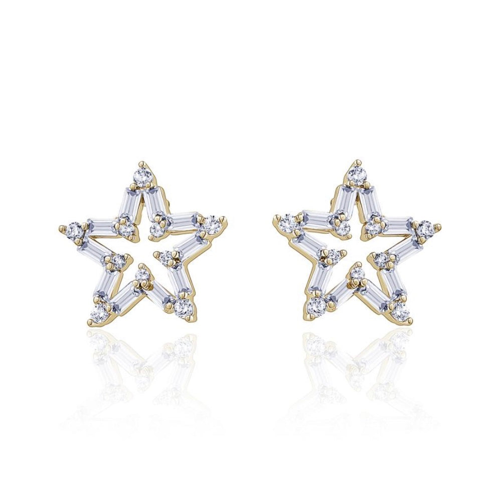 SKYE Crystal Baguette Star Studded Earrings