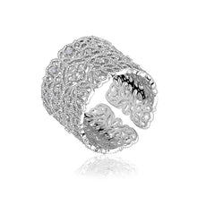 TREVISO Adjustable Filigree Ring in Gold or Silver