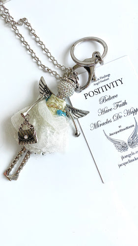 POSITIVITY Angel Key Chain And Necklace