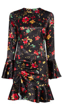REILLY Floral Long Sleeve Fitted Dress