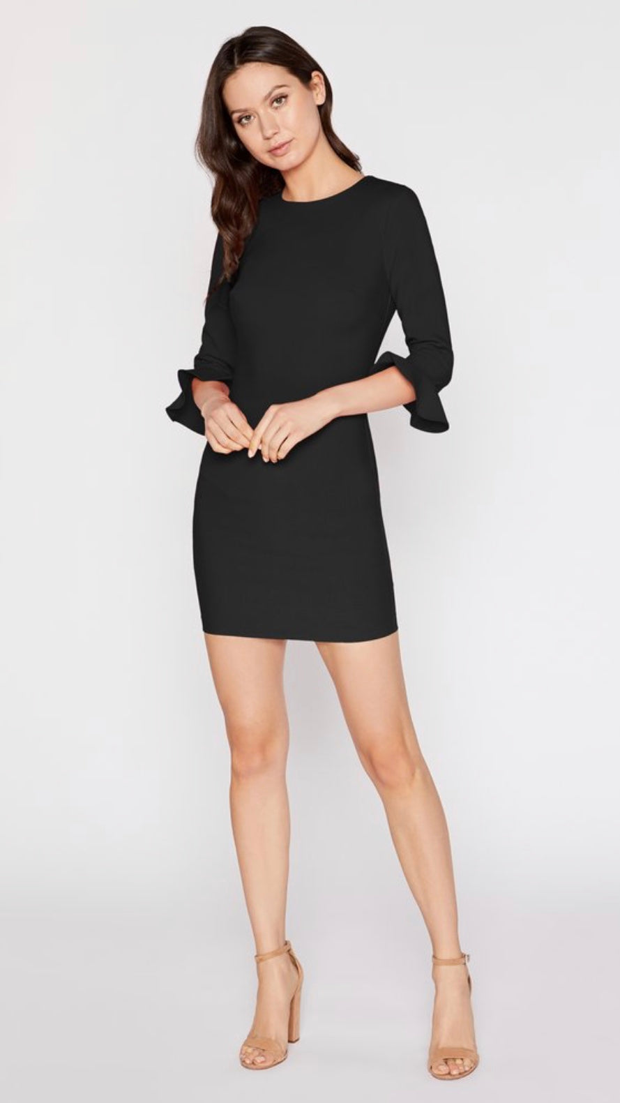 BEDFORD Fitted Long-Sleeve Mini Dress