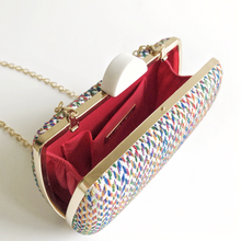 DOVE White Colourful Fabric Clutch