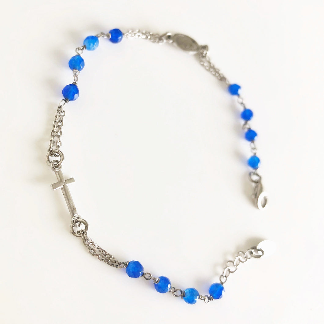 HAVE FAITH Gemstone Rosary Bracelet in 2 Colours  - Amen Collection