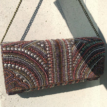 MYRTLE Bronze Beaded Clutch