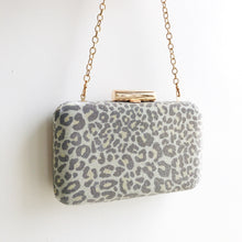 CHEETAH Sparkle Fabric Box Clutch