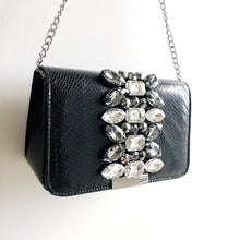 MIMI Faux Snake Purse with Crystal Detailing