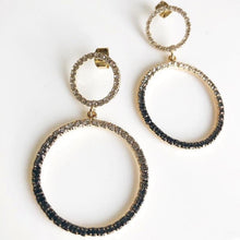 KELLY Crystal Ombre Circular Drop Earrings
