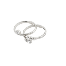 FRAN Layer Silver 2 in 1 Ring