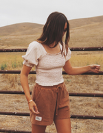 The Jen Top (Vintage Cream)