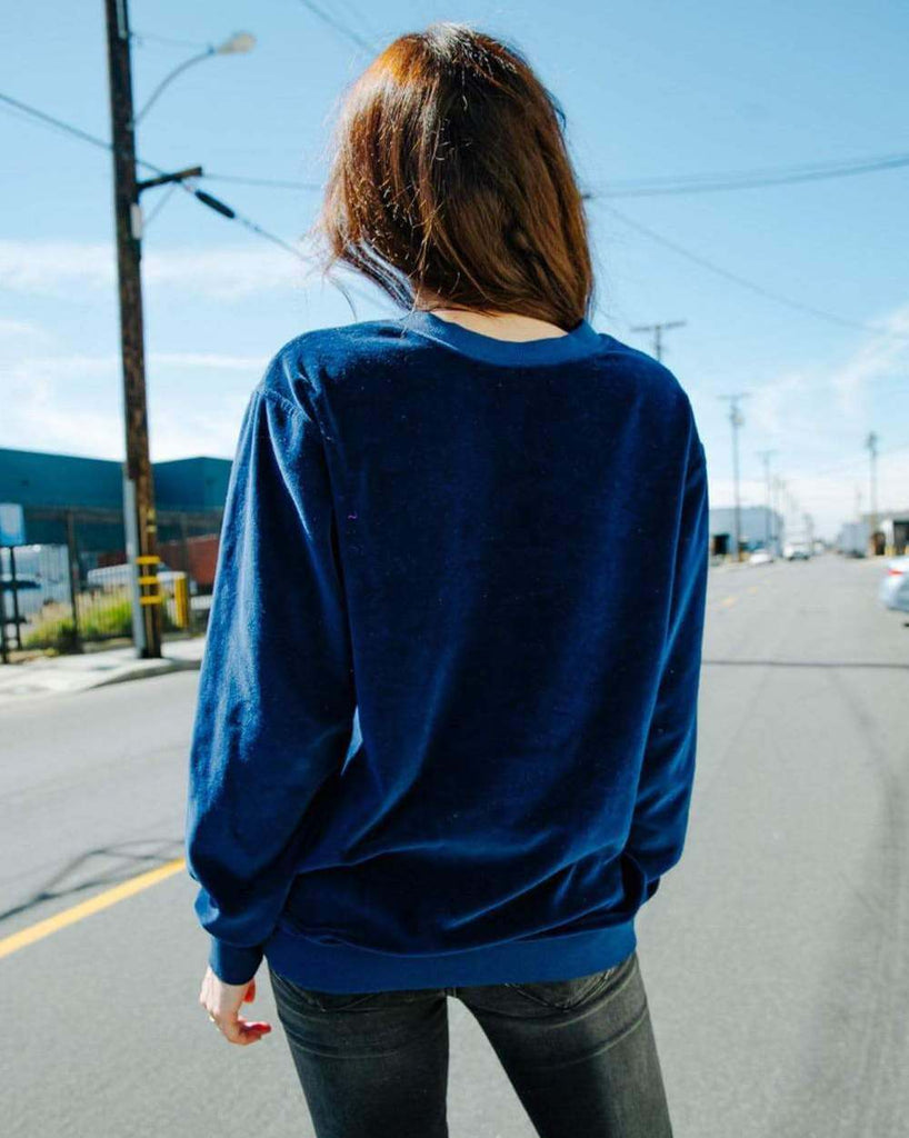 Royal Blue Velour Soft Sweater