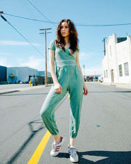 Mint Short Sleeve Jumpsuit
