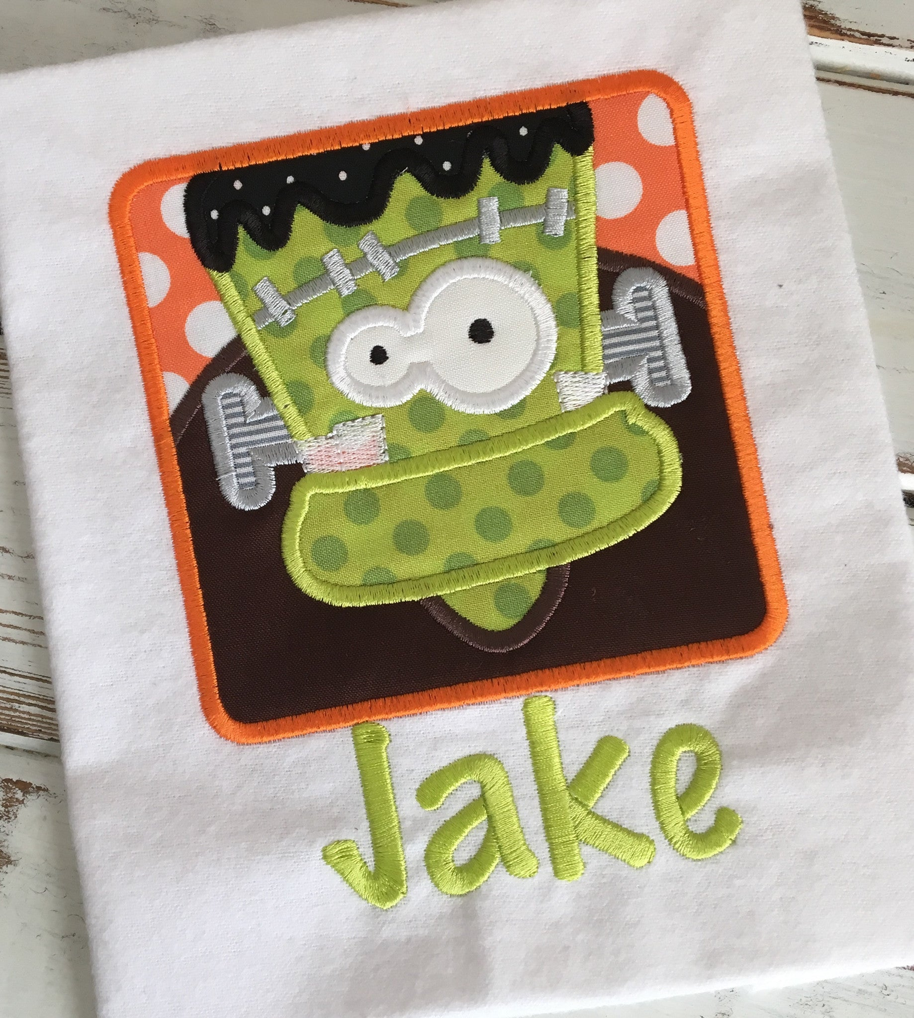 Frankenstein Box - Hug A Bug Applique Designs