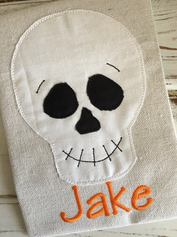 Skeleton Smile Bean Stitch Applique Design - Hug A Bug Applique Designs