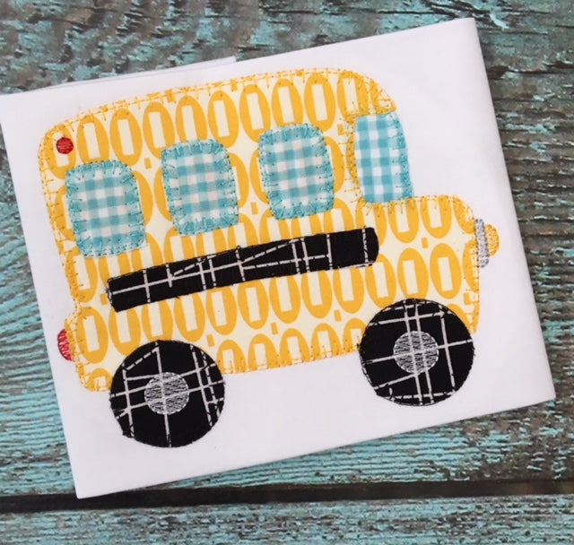 Bus Blanket Stitch Applique Design - Hug A Bug Applique Designs