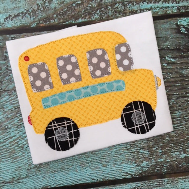 Bus Bean Stitch Applique Design - Hug A Bug Applique Designs