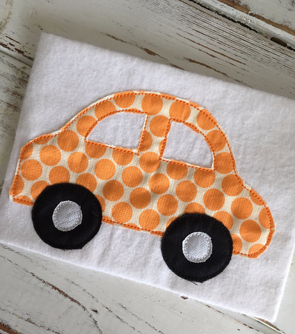 Car Simple Bean Stitch - Hug A Bug Applique Designs
