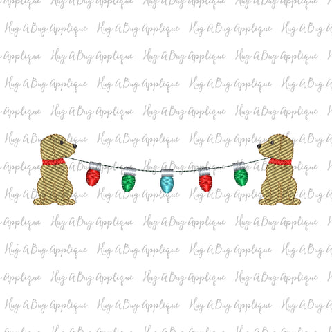 Pup Lights Sketch Stitch Embroidery Design