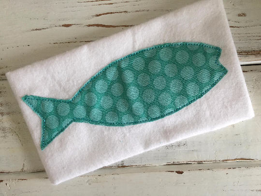 Fish Bean Stitch - Hug A Bug Applique Designs