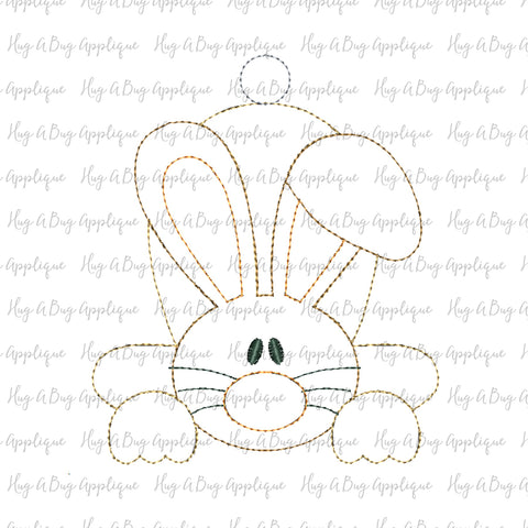 Flop Ear Bunny Bean Stitch Applique Design