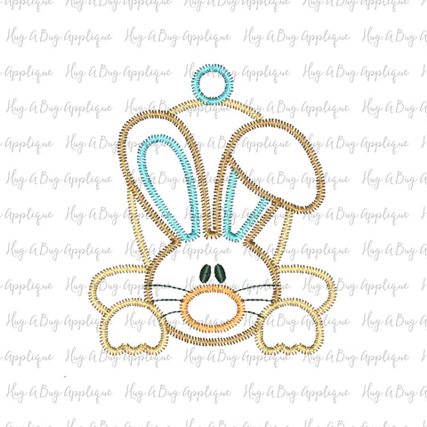 Flop Ear Bunny Zig Zag Stitch Applique Design