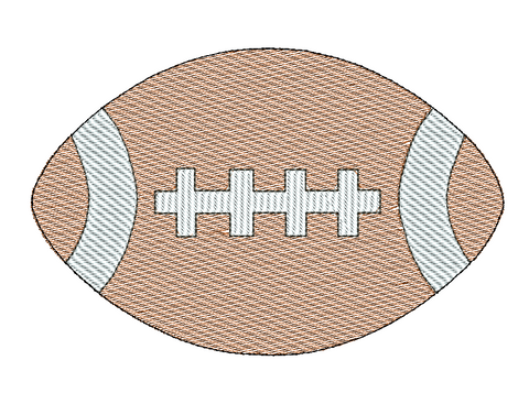 Football Sketch Embroidery Design