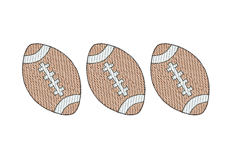 Football Trio Sketch Embroidery Design