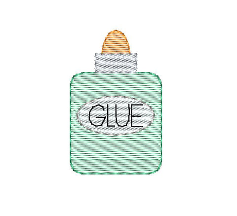 School Glue Mini Sketch Embroidery Design
