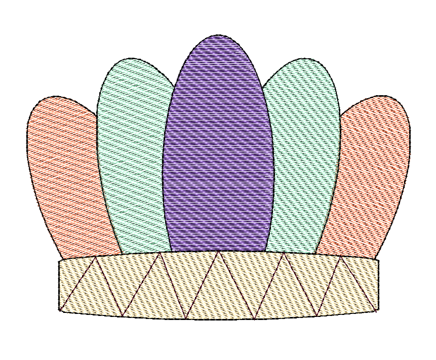 Headdress Sketch Embroidery - Hug A Bug Applique Designs
