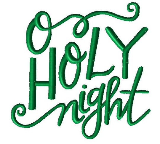 O Holy Night Christmas Embroidery Design - Hug A Bug Applique Designs