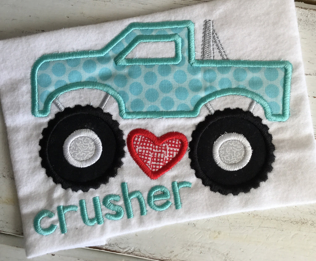 Heart Crusher Truck - Hug A Bug Applique Designs