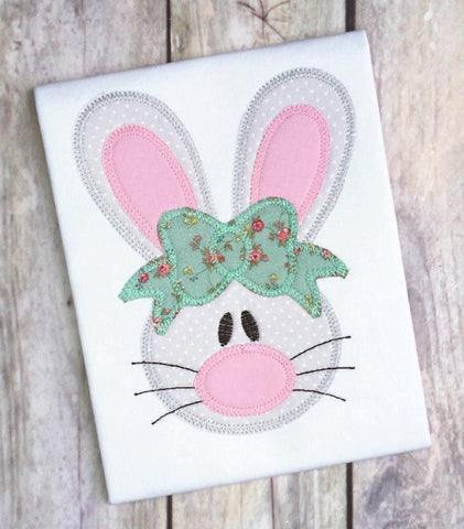 Copy of Rabbit Girl 2 Zig Zag Stitch Applique Design