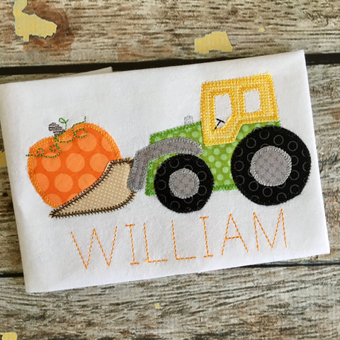 Pumpkin Digger Zig Zag Stitch Applique Design - Hug A Bug Applique Designs