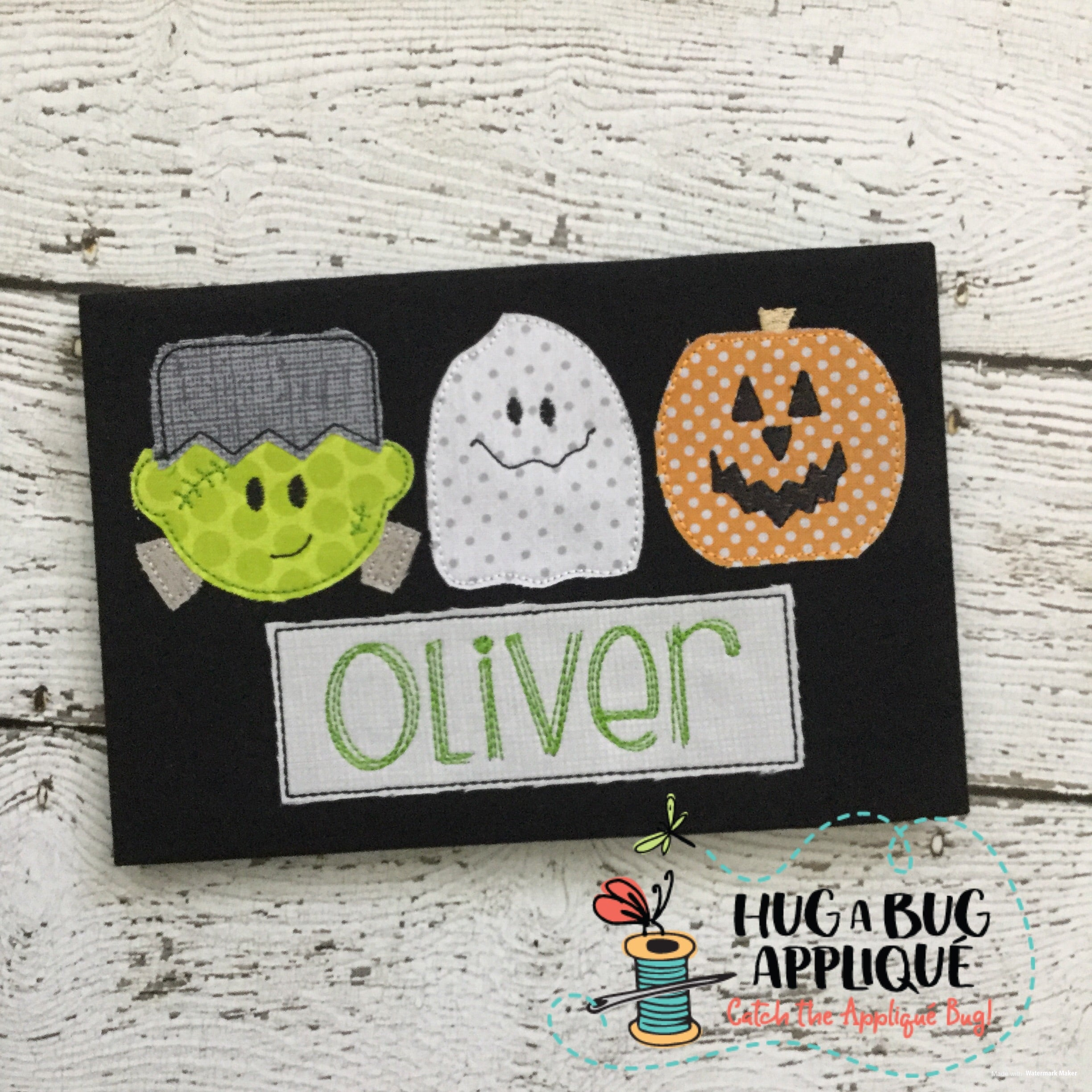 Frank Ghost Jack Trio Bean Stitch Applique Design